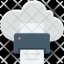 Cloud Printing Facsimile Icon