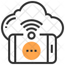 Cloud Message Network Icon