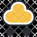 Cloud Ice Flakes Icon