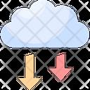 Cloud Access Access Arrows Icon
