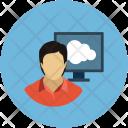 Cloud Online Computing Icon
