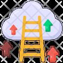 Career Ladder Cloud Achievement Cloud Ladder Icon