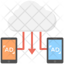 Cloud Advertising Cloud Based Icon