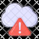 Cloud Error Cloud Alert Cloud Attention Icon