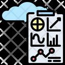 Cloud Report Statistics Icon