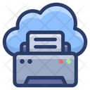 Cloud And Fax Icon