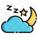 Cloud And Moon Night Cloud Icon