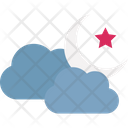 Cloud And Moon Weather Clouds Icon