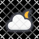 Cloud Moon Moon Weather Icon