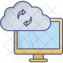 Application Status Cloud Application Update Data Synchronization Icon