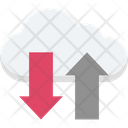 Cloud Arrows Uploading Downloading Icon