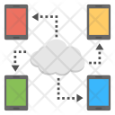 Cloud Data Sharing Icon