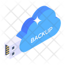 Cloud Data Cloud Backup Cloud Restore Icon