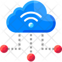Cloud Base Iot system Icon
