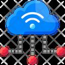 Cloud Based Iotm Cloud Base Iot Cloud Icon