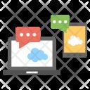 Cloud Based Communication Icon