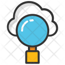 Cloud Based Search Icon