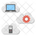 Cloud Based Web Hosting Icon