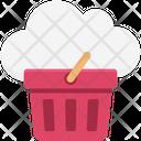 Cloud Basket Cloud Computing Shopping Icon