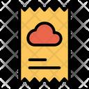 Cloud Bill Receipt Icon