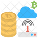 Cloud Network Mining Icon