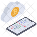 Cloud Bitcoin Cloud Cryptocurrency Cloud Currency Icon