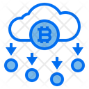 Cloud Bitcoin Icon