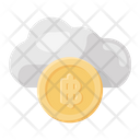 Cloud Bitcoin Cloud Btc Cloud Cryptocurrency Icon