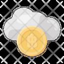 Cloud Bitcoin Icon