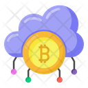 Cloud Earnings Cloud Bitcoin Cloud Money Icon