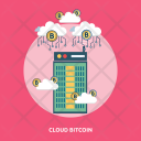 Cloud Bitcoin Gold Icon