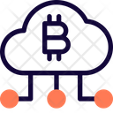Cloud Bitcoin Network Icon