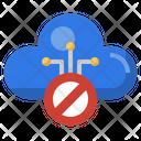 Cloud Block Cloud Banned Cancel Icon