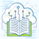 Digital Library Ebooks Education Cloud Icon