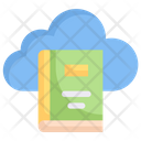 Cloud Book Cloud Library Online Library Icon