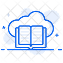 Cloud Book Cloud Library Cloud Learning Icon