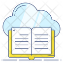 Cloud Book Cloud Learning Digital Education Icon