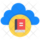 Cloud Book Cloud Education Cloud Learning Icon