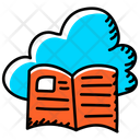 Cloud Learning Cloud Book Cloud Library Icon