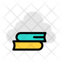 Cloud Book Online Book Cloud Icon