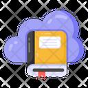 Cloud Book Cloud Booklet Cloud Education Icon