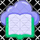 Cloud Content Cloud Book Cloud Reading Icon