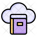 Cloud Book Cloud Library Digital Library Icon