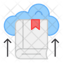 Cloud Education Cloud Book Cloud Library Icon