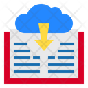 Cloud Book Download Icon