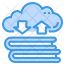 Cloud Book Storage Icon