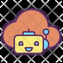 Icloud Bot Cloud Bot Artificial Cloud Bot Icon