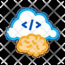 Brain Cloud Separation Icon