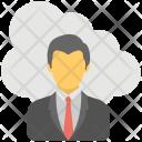 Cloud Businessman Icon