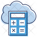Cloud Calculator Icon